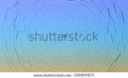 Bullet hole: broken gradient color glass pattern. Large resolution