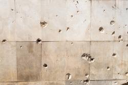 Bullet holes in Sarajevo, Bosnia and Herzegovina