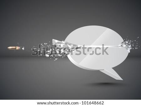 Bullet Sends a Shot Through a Speech Bubble