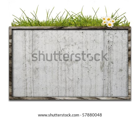 Bulletin board in wooden crate of CG integration - stock photo