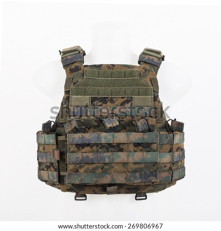 Bulletproof vest, body armor covers, Camouflage Stock photo ©