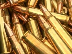 Bullets .223 brass 5.56 caliber ammo for AR 15 rifle ammo