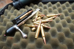 Bullets on the dark background.