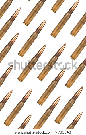 bullets over a white background