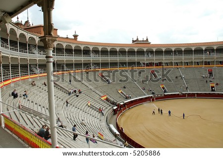 Bullfight Arena Square, Madrid - Spain .