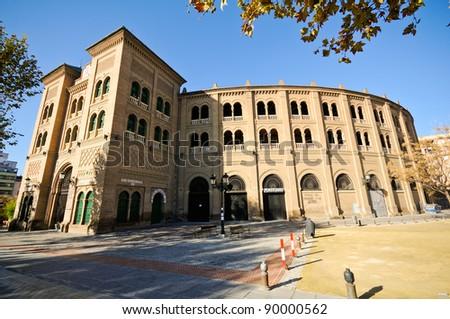Bullring in Granada, situated at Plaza de toros. Andalusia, Spain