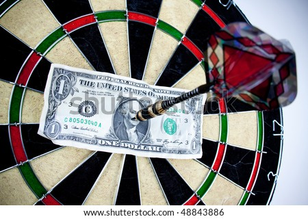 bulls-eye business and money concept