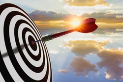 Bullseye is a target of business marketing concept.achieving and winning concept