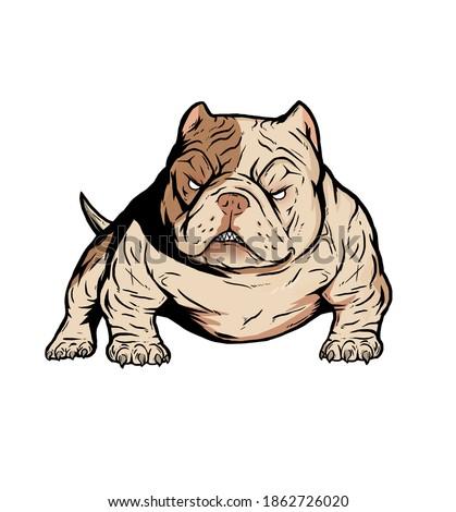 bully americanbully logo dog pitbull Stock foto ©