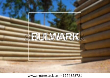 Bulwar in Canakkale City, unfocused background. Bulwark write. Zdjęcia stock ©