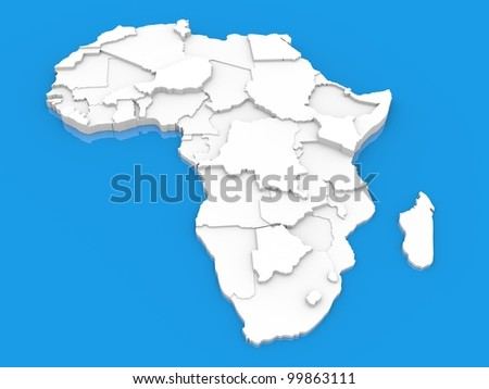 bump map of Africa