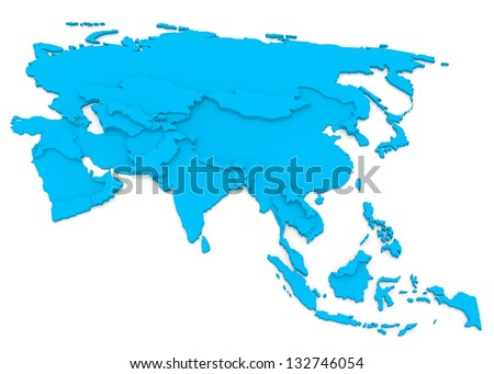Bump map of Asia