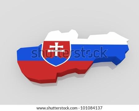 bump map of Slovakia
