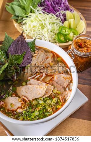 Bun Bo Hue (spicy beef noodle soup) Stok fotoğraf ©