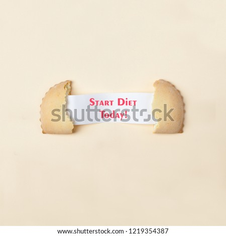 Weight loss starts today concept Images and Stock Photos