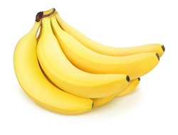 Bunch of bananas isolated on a white.