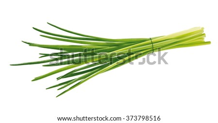 bunch of chive isolated Foto stock ©