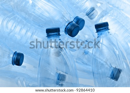 bunch of empty plastic bottle