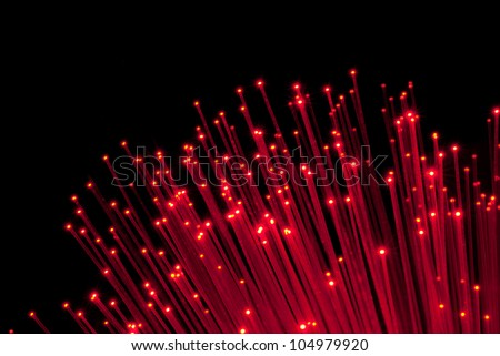 bunch of Fiber Optic dynamic flying from deep.