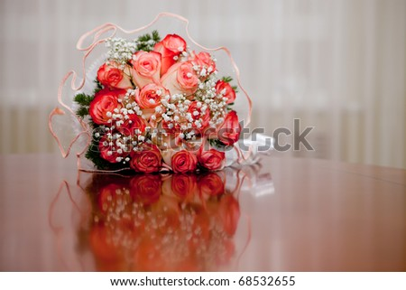 Bunch of flowers for the bride