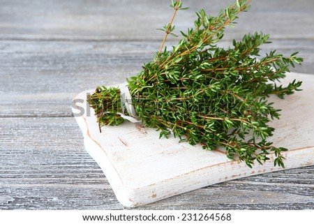 Bunch of fragrant thyme, spice herb