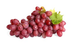 Bunch of fresh ripe juicy grapes isolated on white