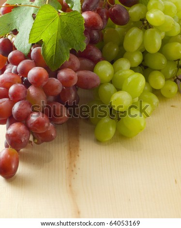 Bunch of grape on a table