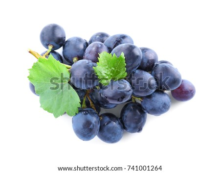 Bunch of grape on white background #741001264
