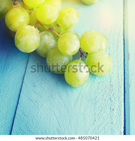 Bunch of green grapes #485070421