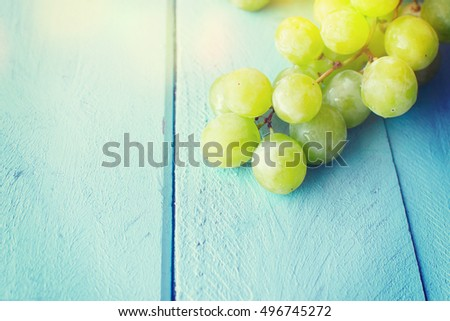 Bunch of green grapes #496745272