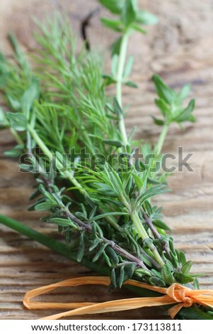 bunch of herbs