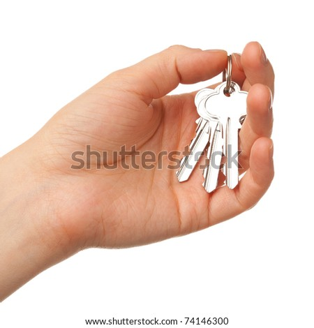 bunch of keys on the palm