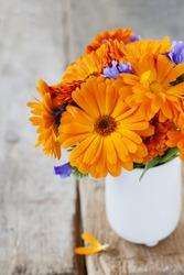 Bunch of orange flowers
