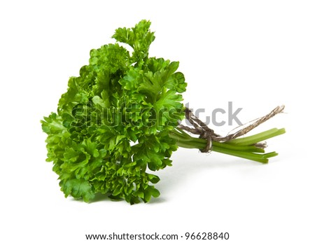 Bunch of parsley isolated on white