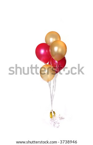 Bunch of Party Balloons Isolated on White