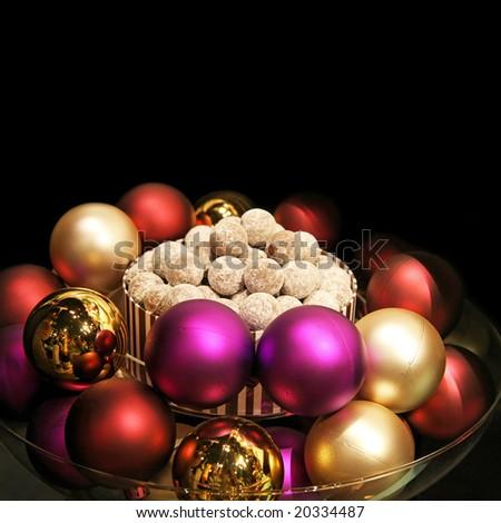 Bunch of pendants for Christmas celebration decor