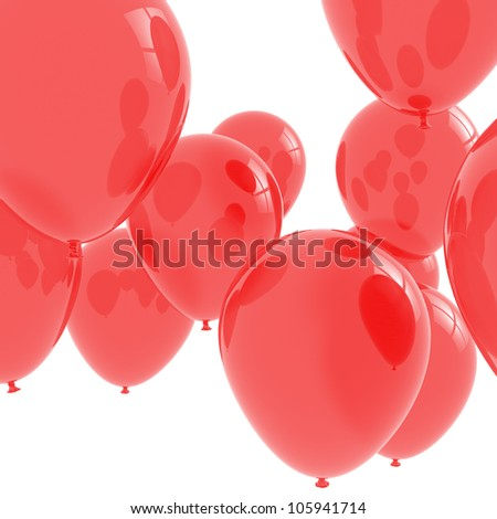 Bunch of red balloons