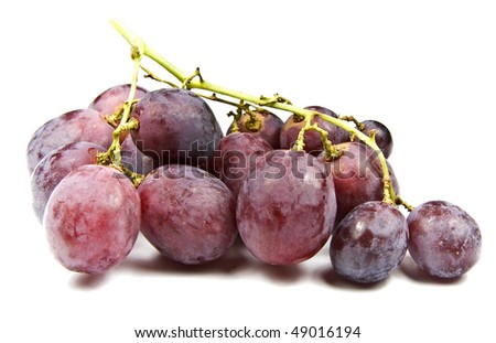 Bunch of red globe grapes fresh fruit