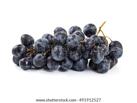 Bunch of ripe grapes isolated on white background #491912527