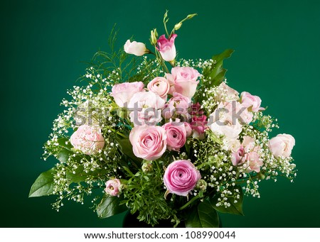 Bunch of green rose