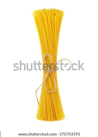 Bunch of spaghetti tied with rope
