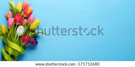 Bunch of spring tulip flower