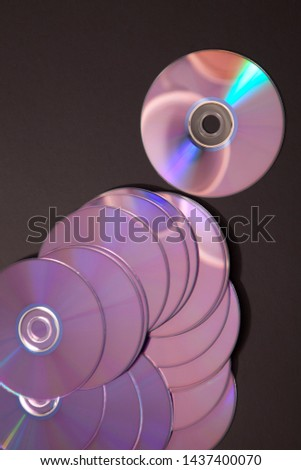 bunch of unused compact discs  #1437400070