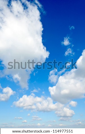 Bunch of white clouds over the blue sky