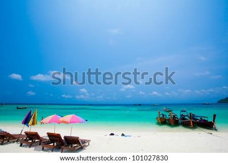 Bundhaya beach  Koh LIPE Thailand - stock photo