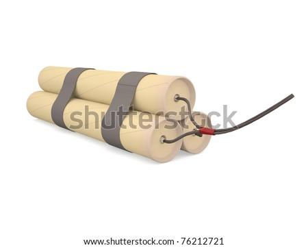Bundle of dynamite. Explosive. The invention of Nobel.