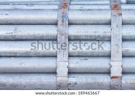 Bundle of Galvanized Steel Pipe