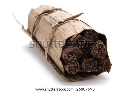 Bundle of hand made Cuban cigars