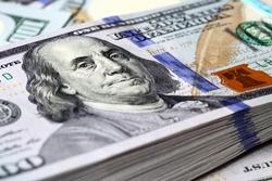 Bundle of new hundred dollar bills