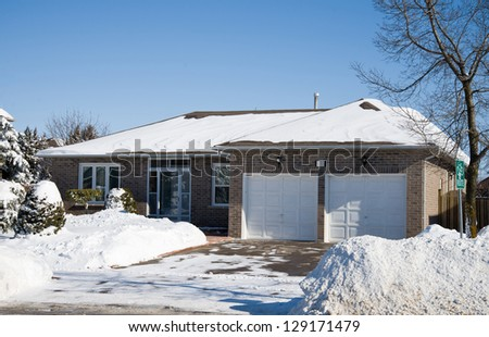Bungalow in winter